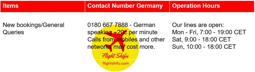Ryanair Germany Contact Number