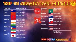 Top 15 AirAsia Contact Number Countries
