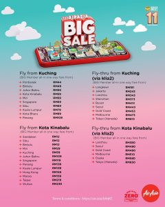 AirAsia BIG Sale Fly From Kota Kinabalu