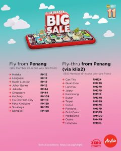 AirAsia BIG Sale Fly From Penang